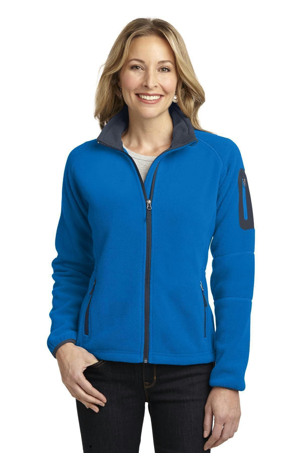 Port Authority Ladies Enhanced Value Fleece Full-Zip Jacket. L229-Sweatshirts/Fleece-Skydiver Blue/ Battleship Grey-4XL-JadeMoghul Inc.