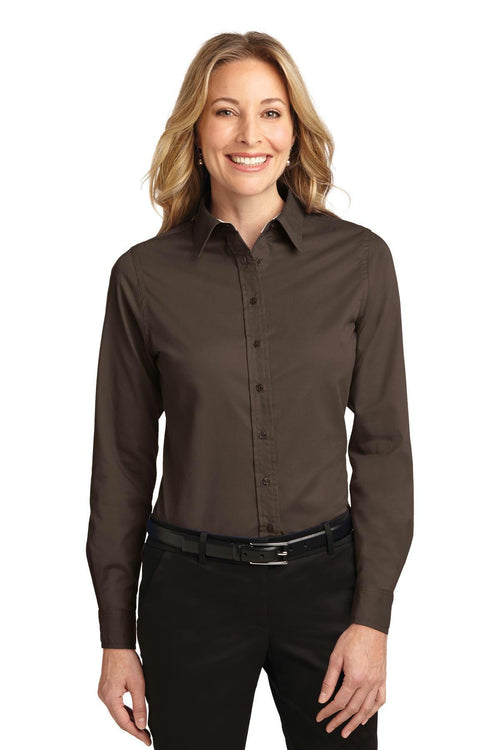 Port Authority Ladies Long Sleeve Easy Care Shirt. L608-Woven Shirts-JadeMoghul Inc.