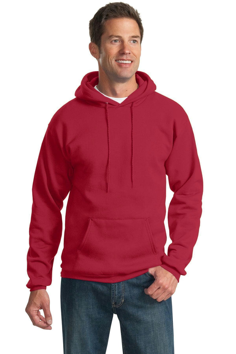 Port & Company - Essential Fleece Pullover Hooded Sweatshirt. PC90H-Sweatshirts/fleece-Red-3XL-JadeMoghul Inc.