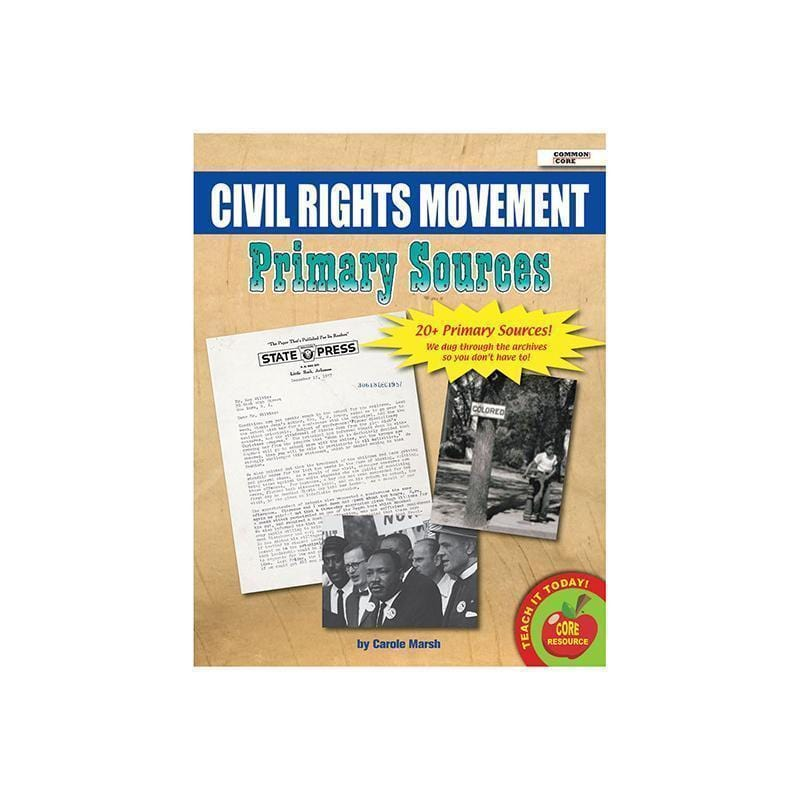 PRIMARY SOURCES CIVIL RIGHTS-Learning Materials-JadeMoghul Inc.
