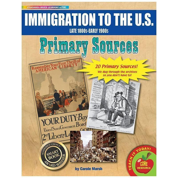 PRIMARY SOURCES IMMIGRATION-Learning Materials-JadeMoghul Inc.