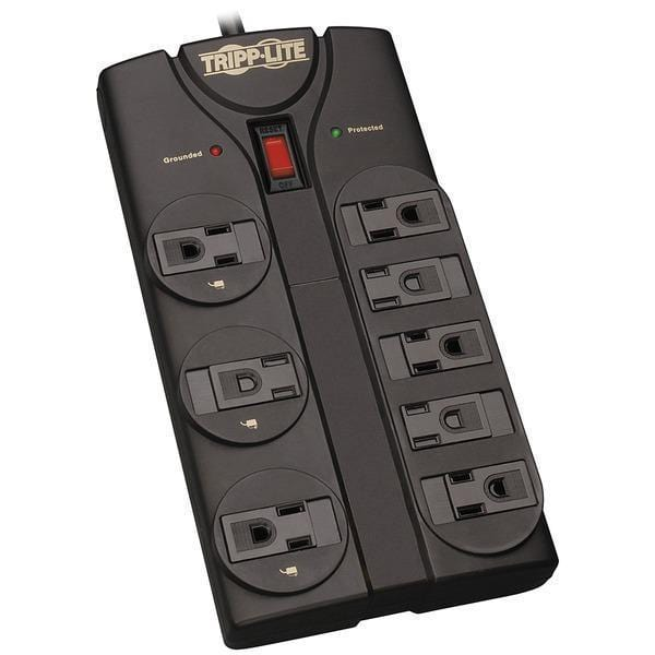 Protect It!(R) 8-Outlet Surge Protector, 8ft Cord-Surge Protectors-JadeMoghul Inc.