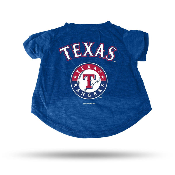 RANGERS - TX ROYAL PET T-SHIRT - SMALL - MLB-PTS Pet T-Shirt-JadeMoghul Inc.
