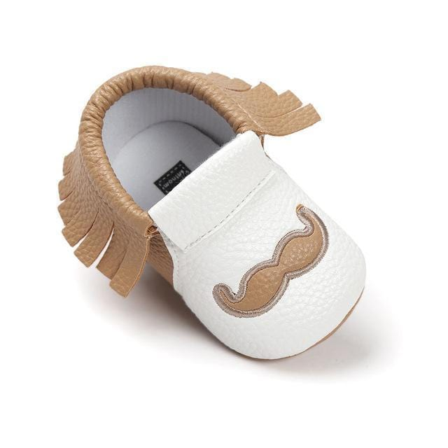 PU Leather Baby Moccasins Tassel Shoes First Walkers Anti-slip Footwear Newborn Toddler Slip-on Soft Shoes-khaki-0-6 Months-JadeMoghul Inc.
