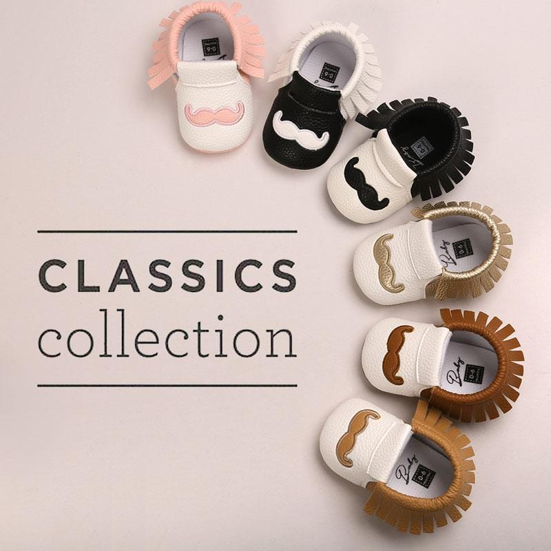 PU Leather Baby Moccasins Tassel Shoes First Walkers Anti-slip Footwear Newborn Toddler Slip-on Soft Shoes-White-0-6 Months-JadeMoghul Inc.