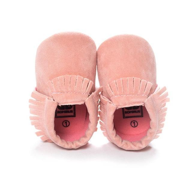 PU Suede Leather Newborn Baby Boy Girl Baby Moccasins Soft Moccs Shoes Bebe Fringe Soft Soled Non-slip Footwear Crib Shoes-F-3-JadeMoghul Inc.