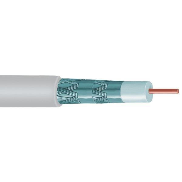 Quad Shield RG6 Solid Copper Coaxial Cable, 1,000ft (White)-Cables, Connectors & Accessories-JadeMoghul Inc.