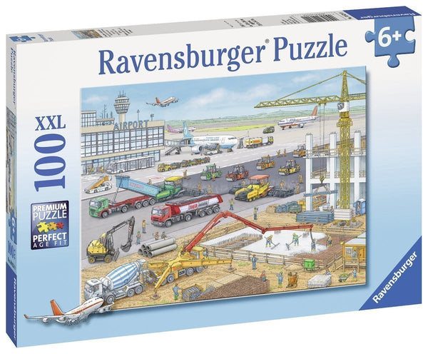 Ravensburger - Construction at the Airport - 100 pc Puzzle-Dolls-JadeMoghul Inc.