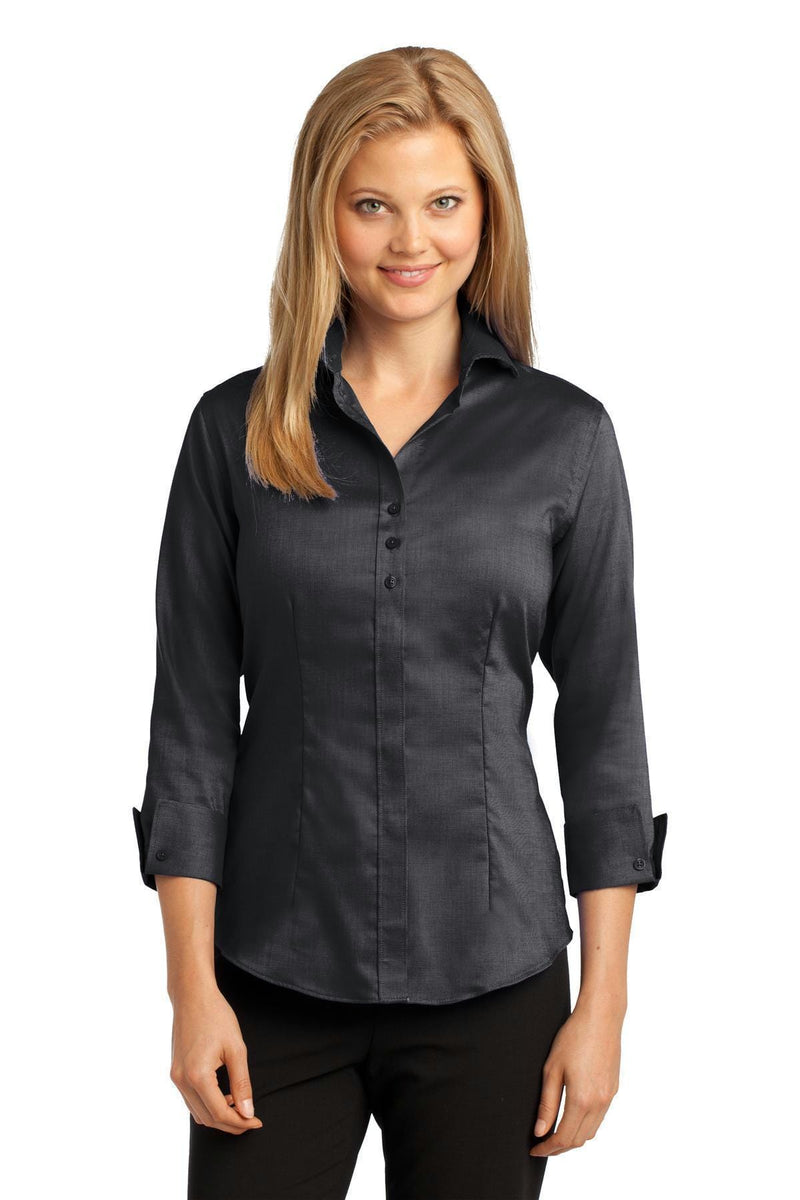 Red House Ladies 3/4-Sleeve Nailhead Non-Iron Shirt. RH69-Woven Shirts-Black-4XL-JadeMoghul Inc.