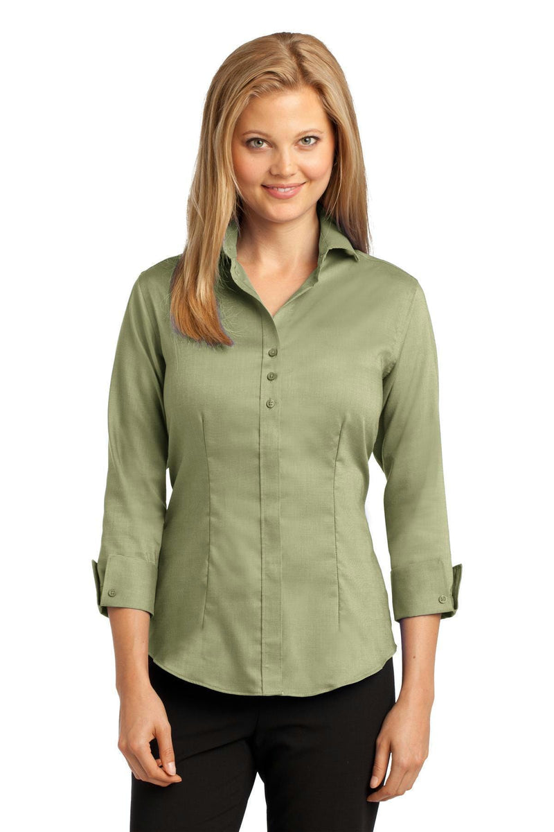 Red House Ladies 3/4-Sleeve Nailhead Non-Iron Shirt. RH69-Woven Shirts-Celery-4XL-JadeMoghul Inc.