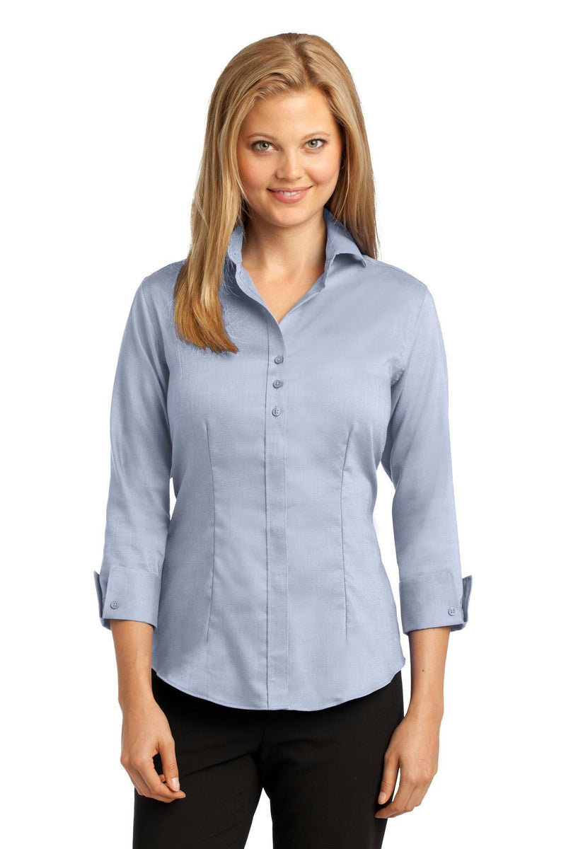 Red House Ladies 3/4-Sleeve Nailhead Non-Iron Shirt. RH69-Woven Shirts-Slate Blue-XXL-JadeMoghul Inc.