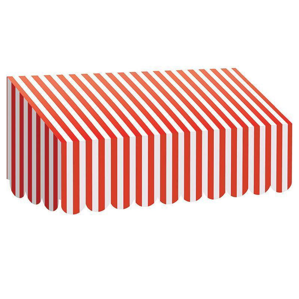 RED & WHITE STRIPES AWNING-Learning Materials-JadeMoghul Inc.