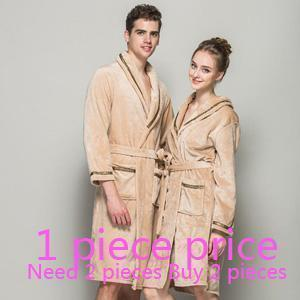 robe brand-clothing bathrobe men Autumn winter thick long flannel men's bathrobe male coral fleece robe lengthen plus size solid AExp