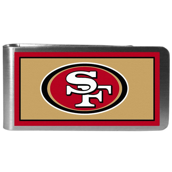 San Francisco 49ers Steel Logo Money Clips-Wallets & Checkbook Covers-JadeMoghul Inc.