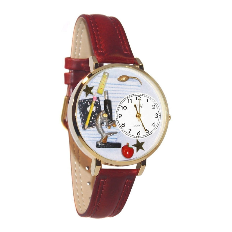 Science Teacher Watch in Gold (Large)-Watch-JadeMoghul Inc.
