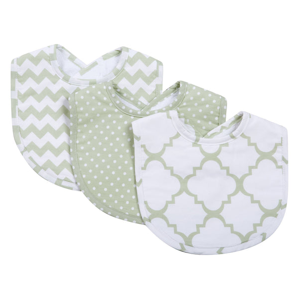 Sea Foam 3 Pack Bib Set-SEA FOAM-JadeMoghul Inc.