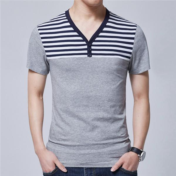 Short Sleeve Polo Shirt-6617 Grey-M-JadeMoghul Inc.