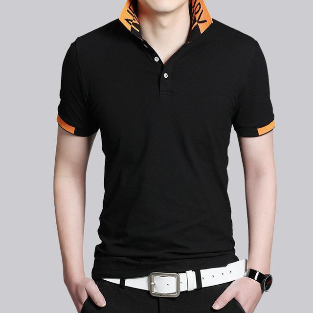 Short Sleeve Polo Shirt-6825 Black-M-JadeMoghul Inc.