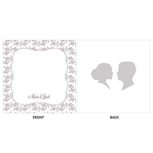 Silhouette Engraved Personalised Acrylic Block Cake Topper (Pack of 1)-Wedding Cake Toppers-JadeMoghul Inc.