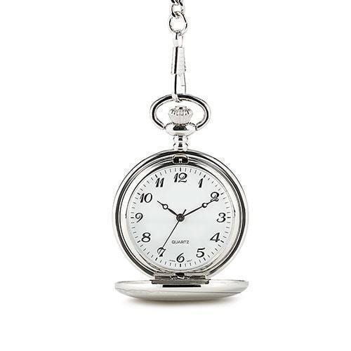 Silver Plated Pocket Watch (Pack of 1)-Personalized Gifts By Type-JadeMoghul Inc.