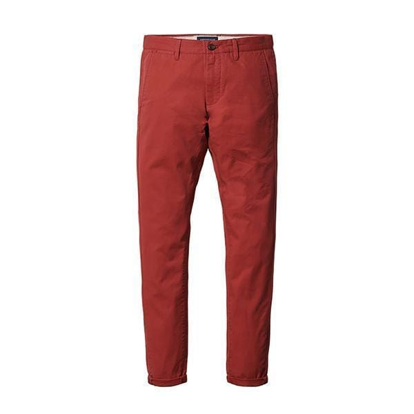 Simwood Brand Spring Summer New Fashion 2017 Slim Straight Men Casual Pants 100% Pure Cotton Man Trousers Plus Size KX6033 1-Orange red 4th-28-JadeMoghul Inc.