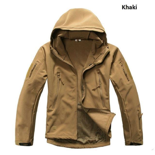 Softshell Military Tactical Jacket For Men / Waterproof Coat / Camouflage Hooded Army AExp