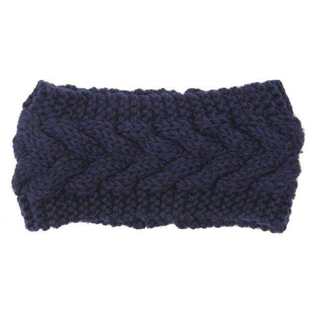 Solid Wide Knitting Woolen Headband Winter Warm Ear Crochet Turban Hair Accessories For Women Girl Hair Band Headwraps AExp