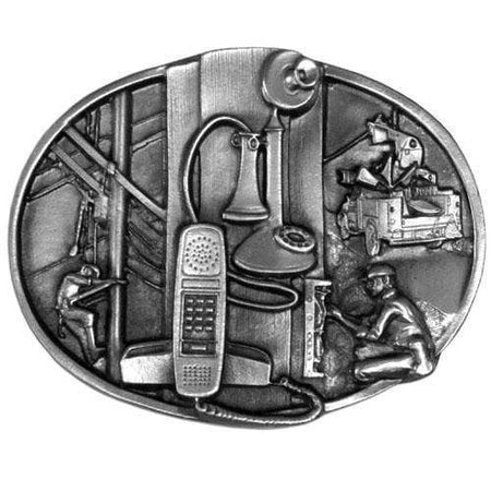 Sports Jewelry & Accessories Sports Accessories - Telephone Worker Antiqued Belt Buckle JM Sports-7