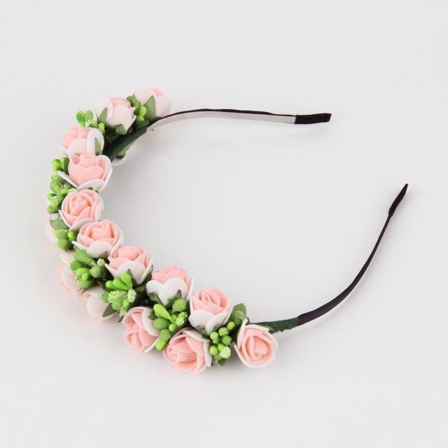 Stylish Women Girls Floral Headband Bohemia Hairband Flower Garland Wedding Prom Head wrap Hair Accessories Gift 2017 New Arrival AExp