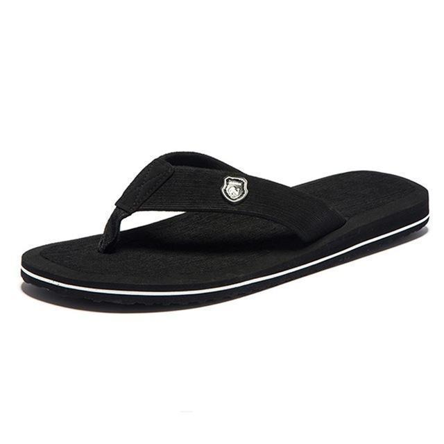 Summer Fashion Beach Sandals for Men / Flat Flip Flops-Black-14-JadeMoghul Inc.