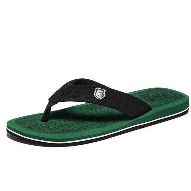 Summer Fashion Beach Sandals for Men / Flat Flip Flops-Green-14-JadeMoghul Inc.