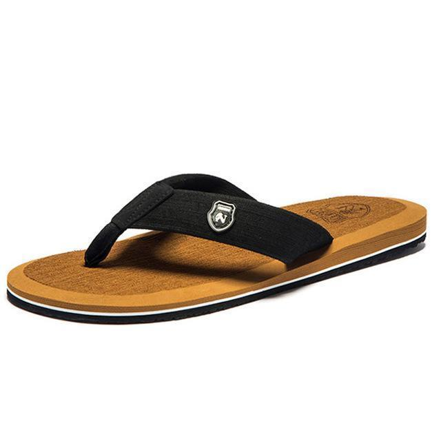 Summer Fashion Beach Sandals for Men / Flat Flip Flops-Turmeric-14-JadeMoghul Inc.