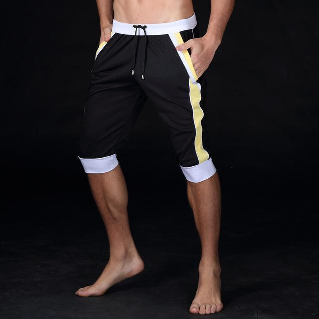 Summer leisure Sporting shorts men trousers elastic brand men shorts Gyms mens fashion quick dry outer wear trousers at home AExp