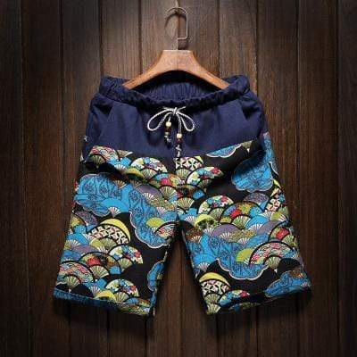 Summer men's large size shorts 2017 new male fashion stitching loose linen shorts Personality trend Comfort Shorts 4XL 5XL AExp