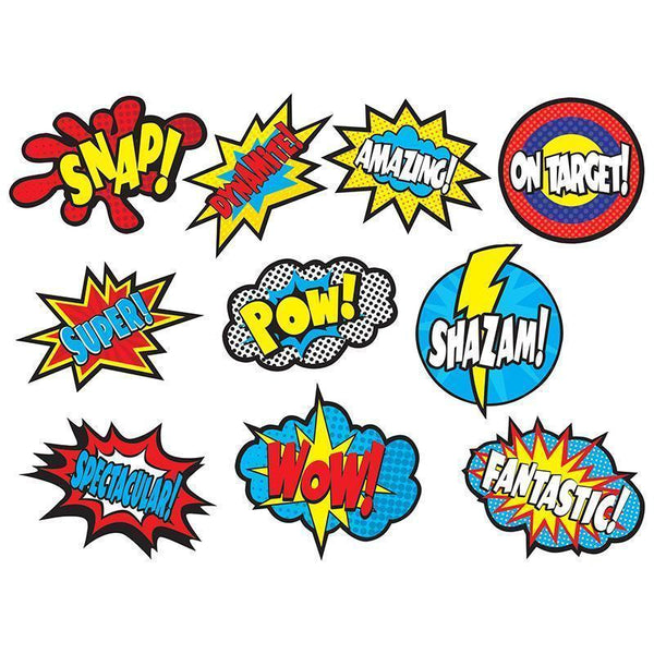 SUPERHERO SAYINGS ACCENTS-Learning Materials-JadeMoghul Inc.