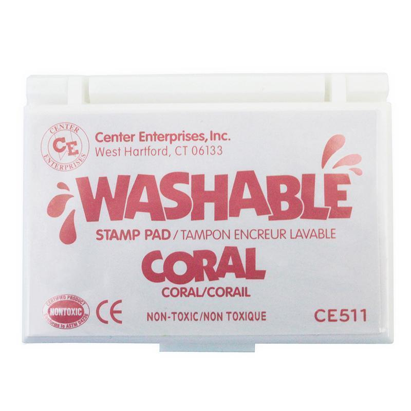 Supplies Stamp Pad Washable Coral CENTER ENTERPRISES INC.