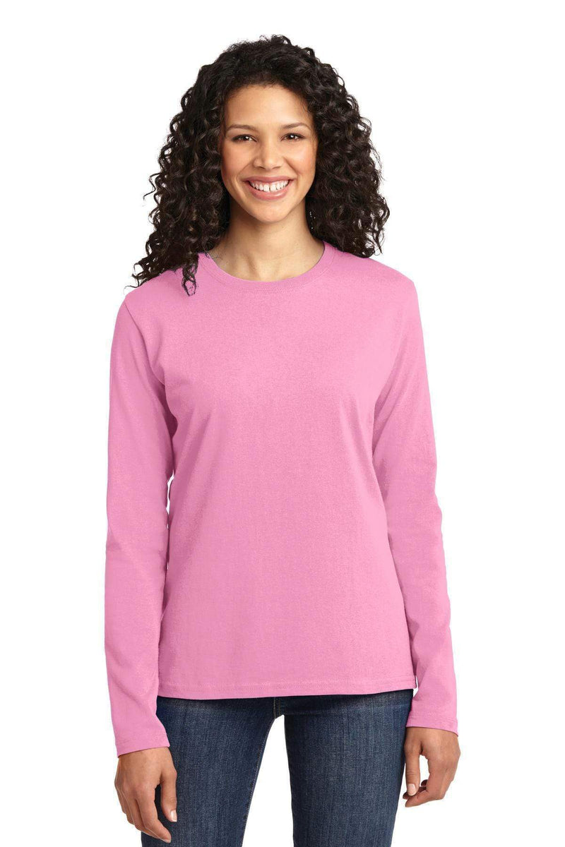 T-shirts Port & Company Ladies Long Sleeve Core Cotton Tee. LPC54LS Port & Company