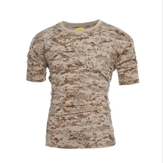 Tactical Military Camouflage T Shirt Men Breathable Quick Dry US Army Combat T-Shirt  Outwear T-shirt AExp
