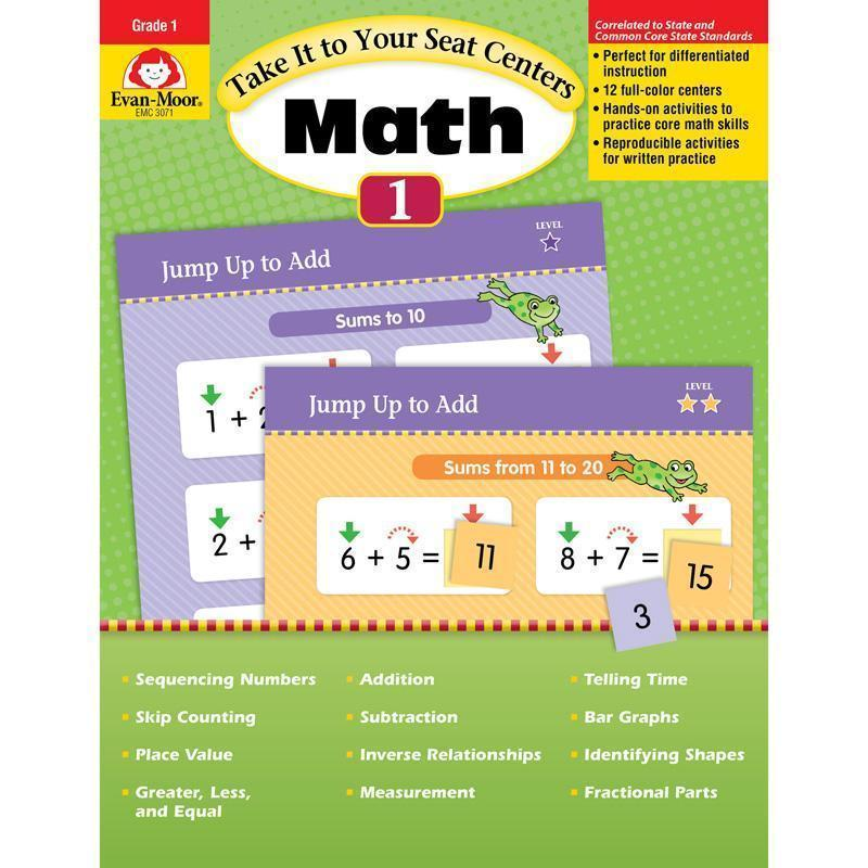 TAKE IT TO YOUR SEAT GR 1 MATH-Learning Materials-JadeMoghul Inc.