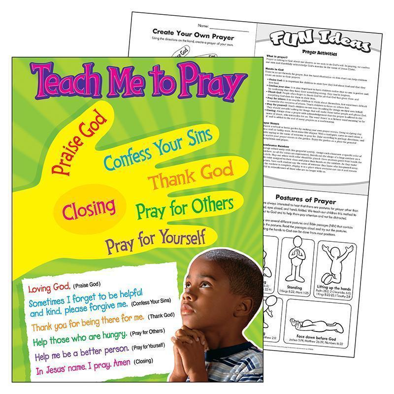 TEACH ME TO PRAY LEARNING CHART-Learning Materials-JadeMoghul Inc.