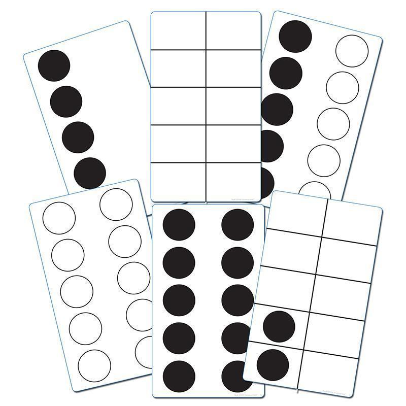 TEN FRAME ACTIVITY CARDS-Learning Materials-JadeMoghul Inc.