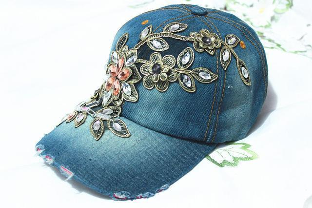 Three wholesale fall fashion Denim Baseball cap Sports Hat cap canvas Snapback caps hat for women good quality-Sky Blue-adjustable-JadeMoghul Inc.