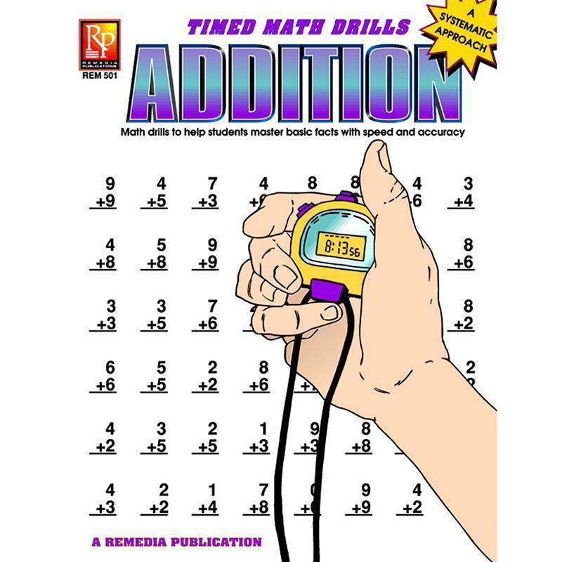 TIMED MATH DRILLS ADDITION-Learning Materials-JadeMoghul Inc.
