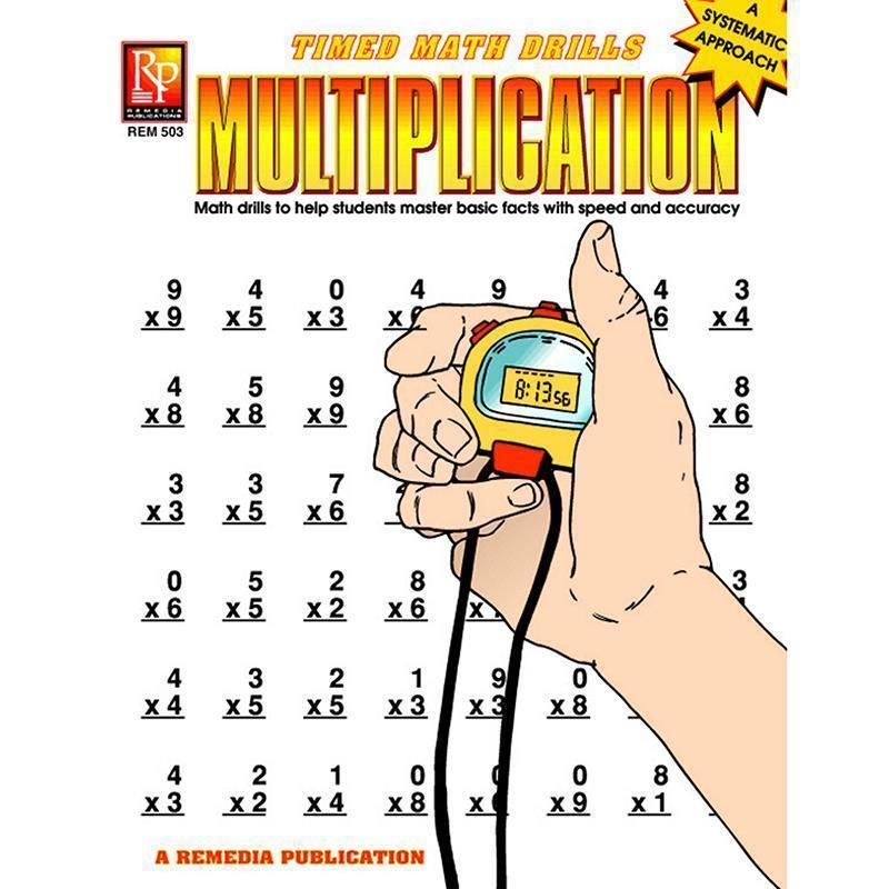 TIMED MATH DRILLS MULTIPLICATION-Learning Materials-JadeMoghul Inc.