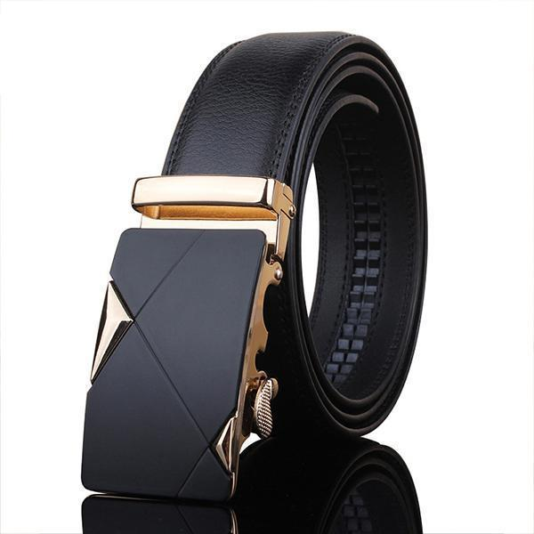 Top Quality Genuine Luxury Leather Belt-sjsilvery-100cm 27to29 Incn-JadeMoghul Inc.