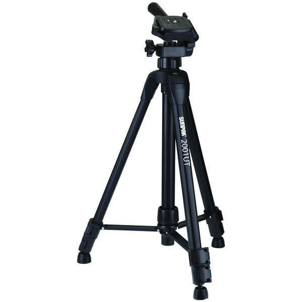 "Tripod with 3-Way Pan Head (Folded height: 18.5""; Extended height: 49""; Weight: 2.3lbs)-Camera & Camcorder Accessories-JadeMoghul Inc."