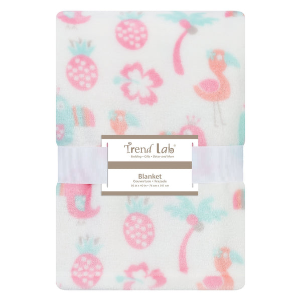 Tropical Pastel Plush Baby Blanket-TRPCL-JadeMoghul Inc.