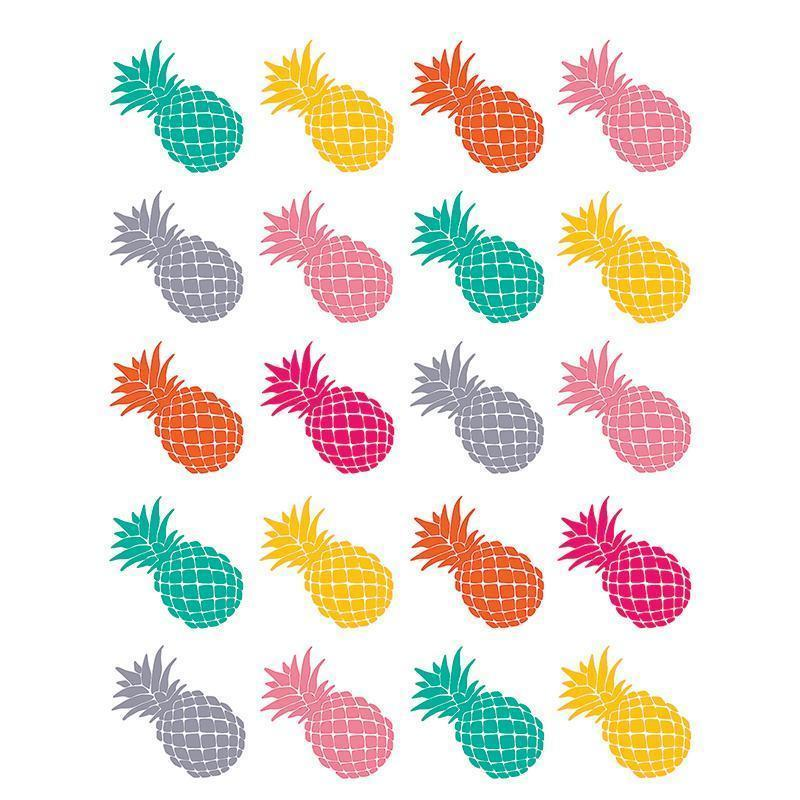TROPICAL PUNCH PINEAPPLES STICKERS-Learning Materials-JadeMoghul Inc.