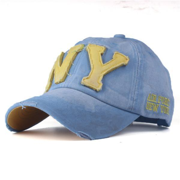 Unisex Fashionable Baseball Cap-Sky Blue-Adjustable-JadeMoghul Inc.