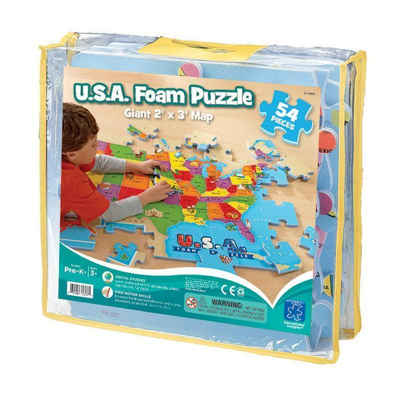 USA FOAM MAP PUZZLE-Learning Materials-JadeMoghul Inc.